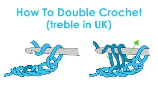 How to Double Crochet (Treble Crochet in UK)