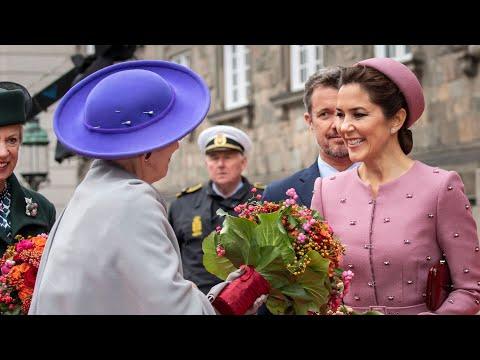 Mary, Frederik og dronningen til fest på Christiansborg
