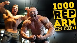 1,000 Rep Arm Challenge - Add ONE INCH To Your Arms | Joe Wachs vs Marc Lobliner