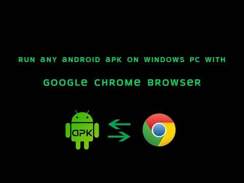 How To Run Android APK On PC With Google Chrome