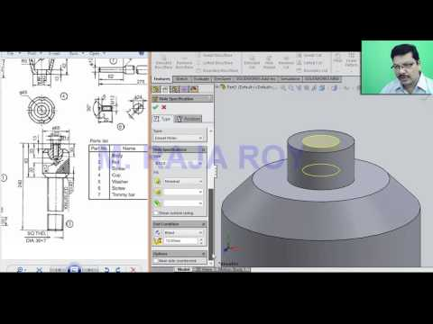 ScrewJack - Parts, Assembly And Drawing