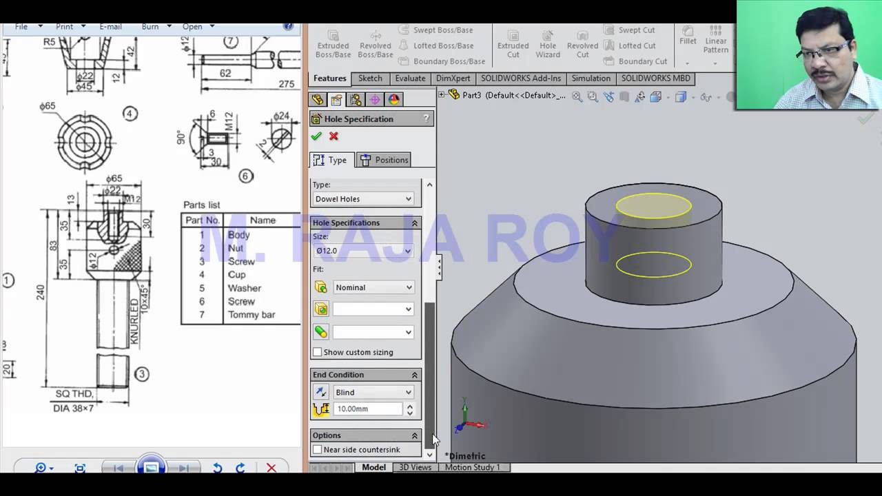 screwjack parts assembly and drawing youtube rh youtube com