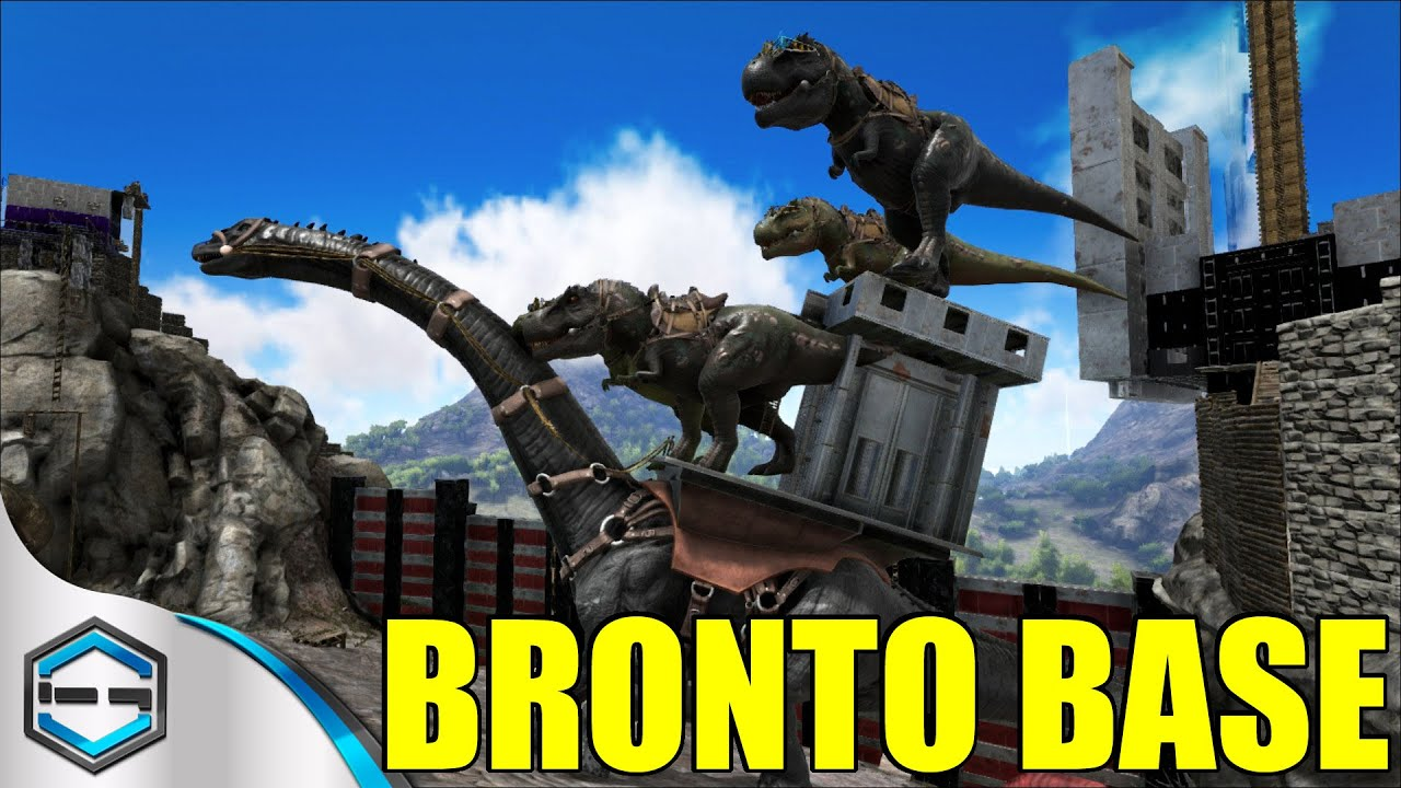 Ark Survival Evolved Ultimate Bronto BASE! Ep. 23 - YouTube