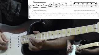 Jimi Hendrix - Red House Intro at Woodstock - Blues Guitar Lesson with Tabs