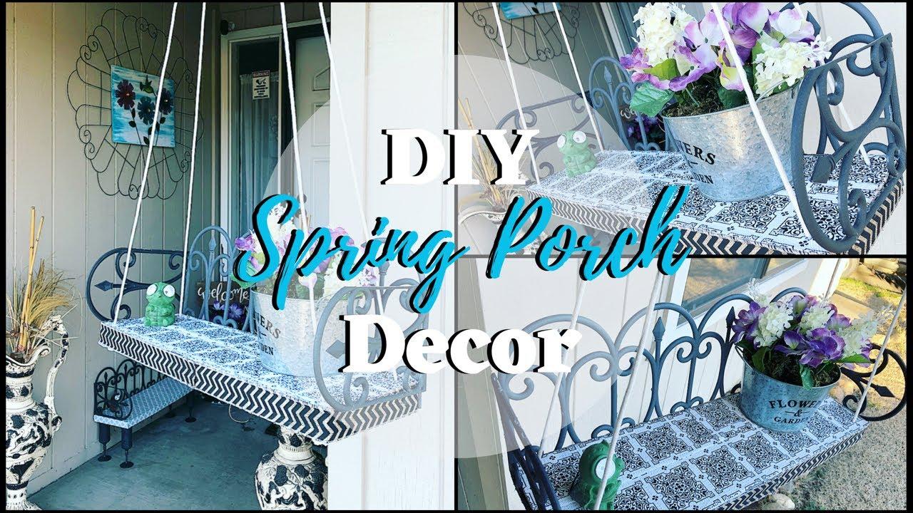 Diy Dollar Tree Spring Porch Decor 2019 Youtube