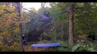 Selfmade Bungee Trampoline in the Woods