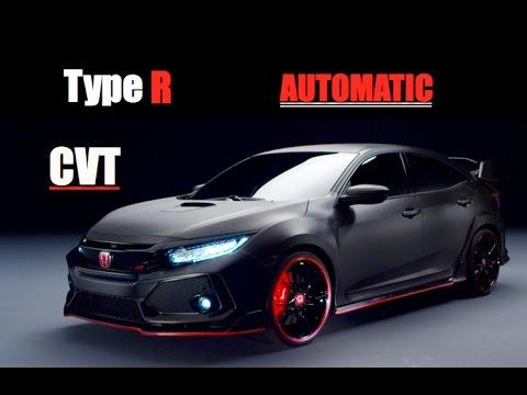 2018 honda civic type r automatic cvt inside lane youtube