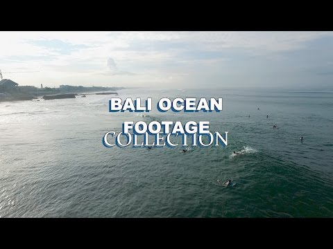 Bali Canggu Aerial Ocean Stock Footage Collection