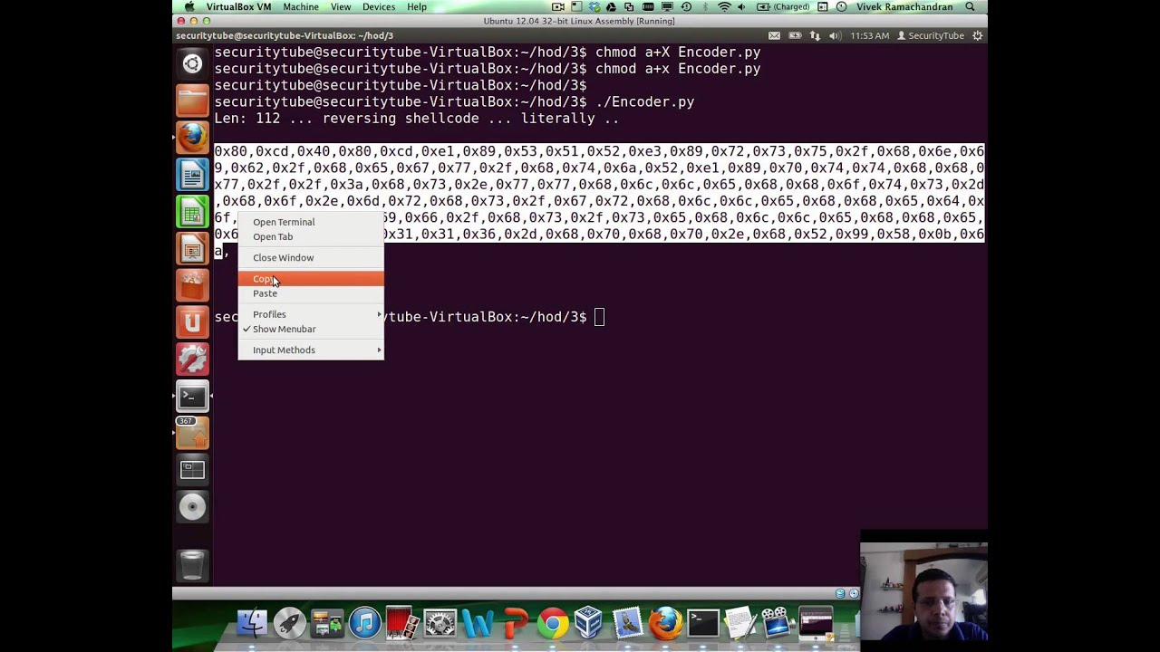 [SecurityTube net] Hack of the Day Part 3: Writing Shellcode Encoder /  Decoder