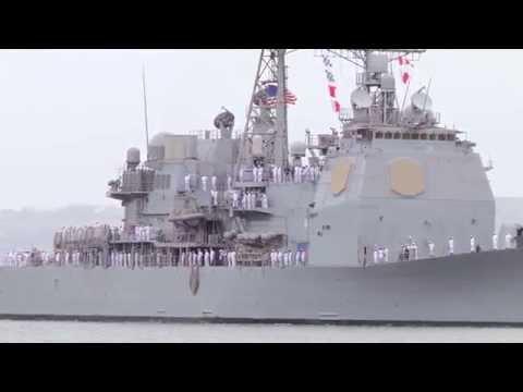 Ticonderoga Class Cruiser USS Bunker Hill (CG-62) Returns From Deployment