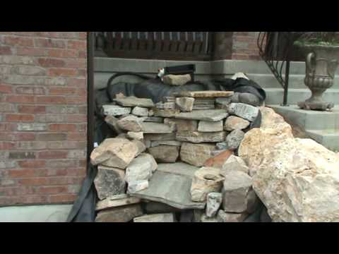 Part 4 Of 5 Stacking Rocks Construction Of Pondless Waterfall
