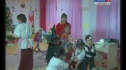 Kuusijuhlat Helmi-päiväkodissa, aiheena Muumit