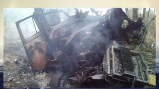 В Авдеевке военный грузовик подорвался на противотанковой мине(Видео телеканала
