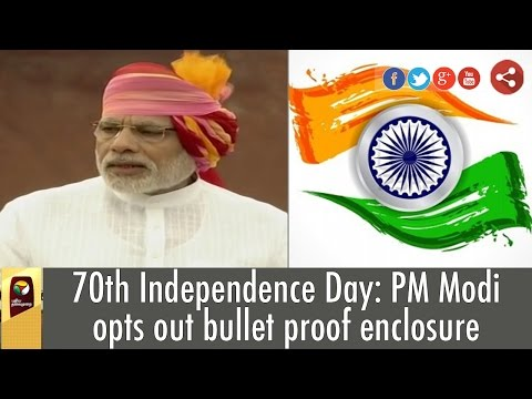 70th Independence Day: PM Modi opts out bullet proof enclosure