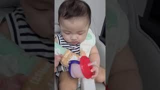 7개월아기. 릿첼 빨대컵 적응기 ㅋㅋㅋㅋ