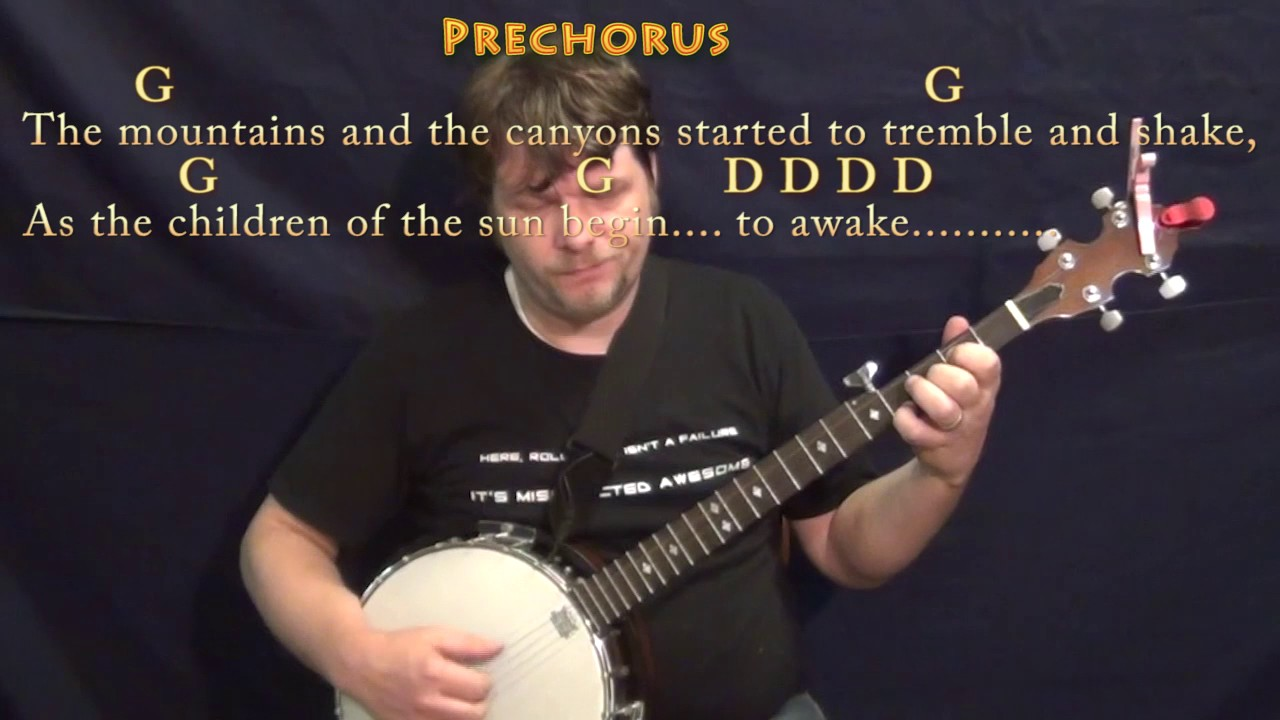 Going To California Led Zeppelin Banjo Cover Lesson With Chords