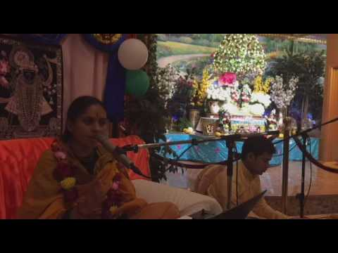 Murlika Ji in USA 2016   Bhagwat Katha in Braj Mandir MA Day 04 June 22 Part 2