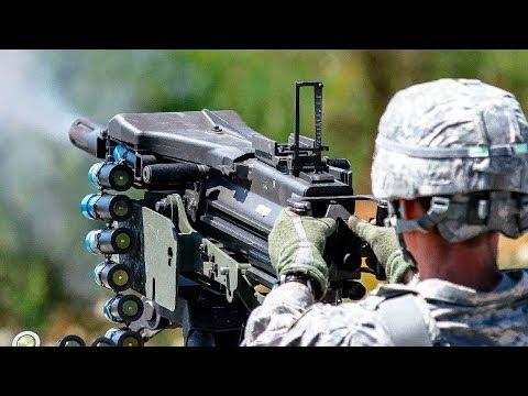 The Devastating Mk 19 Grenade Launcher In Action / Shooting  [ Mark 19, 40 mm ]