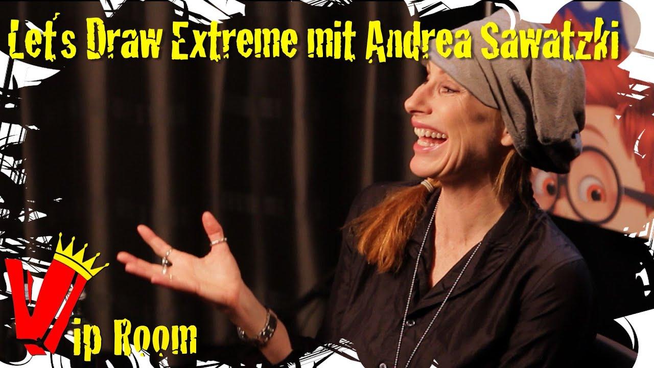 Andrea Sawatzki Experiment let´s draw extreme mit andrea sawatzki