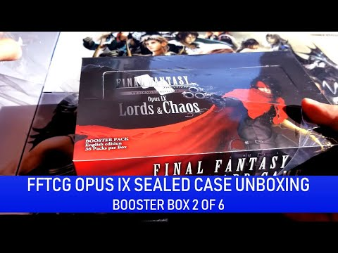 Lords /& Chaos Booster Box Factory Sealed Opus IX Final Fantasy