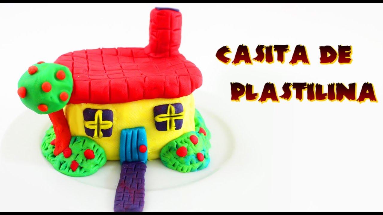 C mo hacer una casita de plastilina manualidades - Casita con tobogan para ninos ...