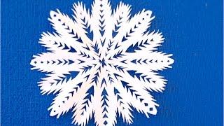 DIY. Как вырезать снежинки из бумаги пошагово. SNOWFLAKE. Copo de nieve.
