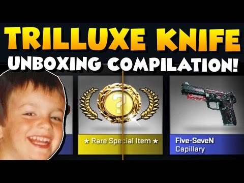 CS:GO - TrilluXe Knife Unboxing Compilation! All Knives I ever unboxed! :)