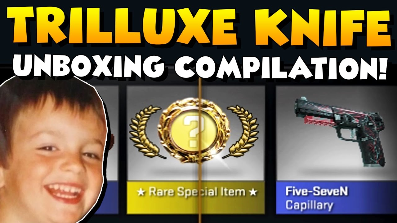 Download CS:GO - TrilluXe Knife Unboxing Compilation! All Knives I ever unboxed! :)