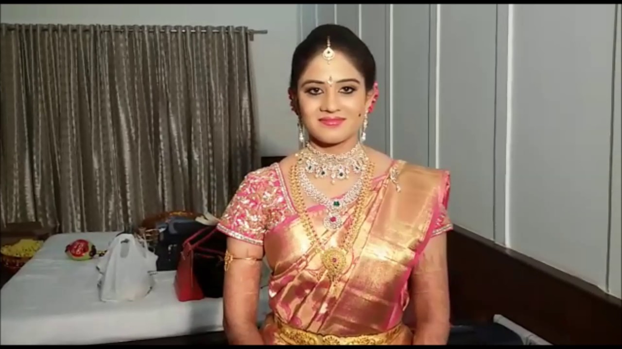 south indian bridal hairstyle - youtube