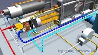 Поршневой детонационно паровой двигатель без КШМ