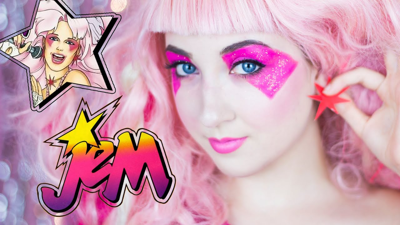 Jem jem and the holograms makeup tutorial youtube ccuart Images