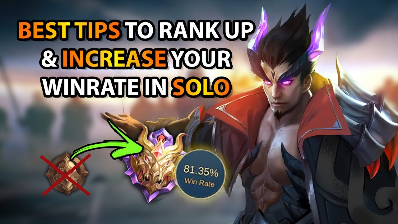 Best Tips To Help You Rank Up In Solo - Even In 4vs5 & No Tank | MLBB