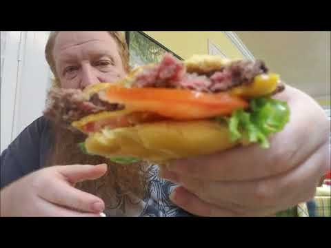 """Big Red's Restaurant Invasion"" ep. 22 - Ellen's Cafe Hamburger - Review - Mukbang"