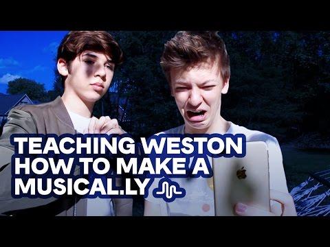 TEACHING WESTON HOW TO MAKE A MUSICAL.LY | MARIO SELMAN