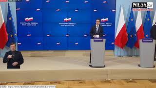 Kolejne obostrzenia - konferencja premiera Morawieckiego i ministra Szumowskiego