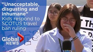 SCOTUS travel ban ruling leaves children of detained immigrants in tears