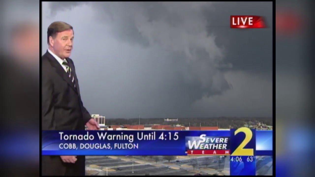 Tower Cam Captures Tornado Near Downtown Atlanta 2008 Youtube