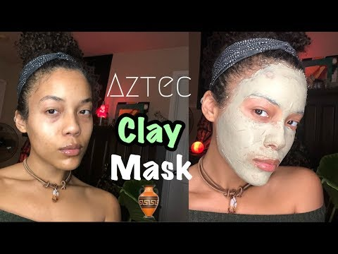 how-to-make-&-apply-aztec-healing-clay-mask-+-essential-oils|-bentonite-clay|-diy-spa-face-mask