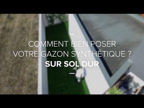 Comment Poser Votre Gazon Synthetique Sur Sol Dur Youtube