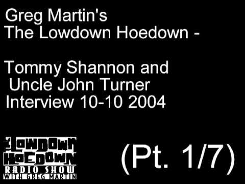 Greg Martin Interview With Tommy Shannon & Uncle John Turner (Pt.1/7)