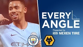 Gabriel Jesus on 🔥 | EVERY ANGLE | Man City vs WOLVES