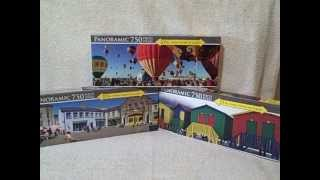Lot Of 3 Jigsaw Puzzles New Unopened 750 Piece Panoramic Lpf Puzzles