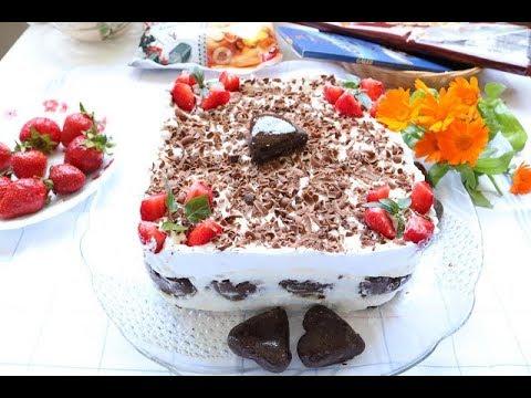Bakina kuhinja - voćna lagana torta medeno srce ne peče se