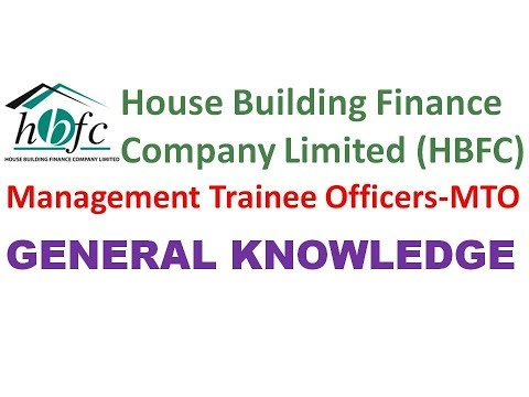 NTS General Knowledge House Building finance company limited HBFC Management trainee officers MTO