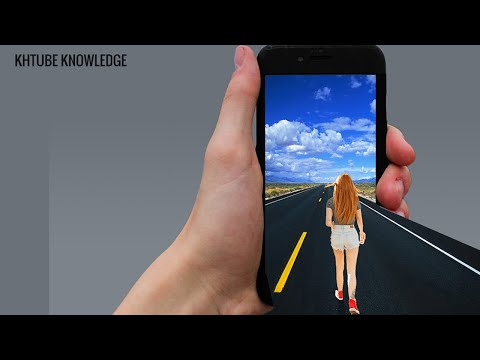 How to design Girl walk into Iphone   3D Design   KHTube Knowledge