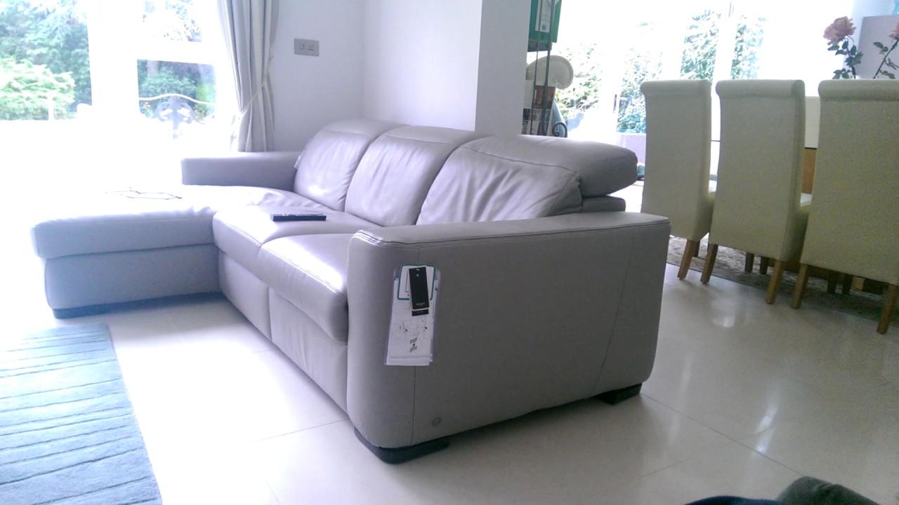 Natuzzi Leather Sofa Recliner Ghost Operation.