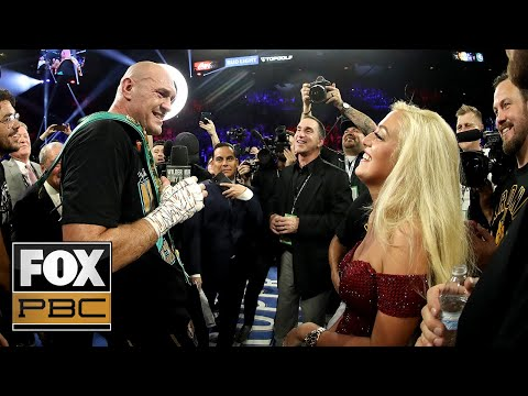Tyson Fury sings 'American Pie' after beating Deontay Wilder during postfight interview | PBC ON FOX
