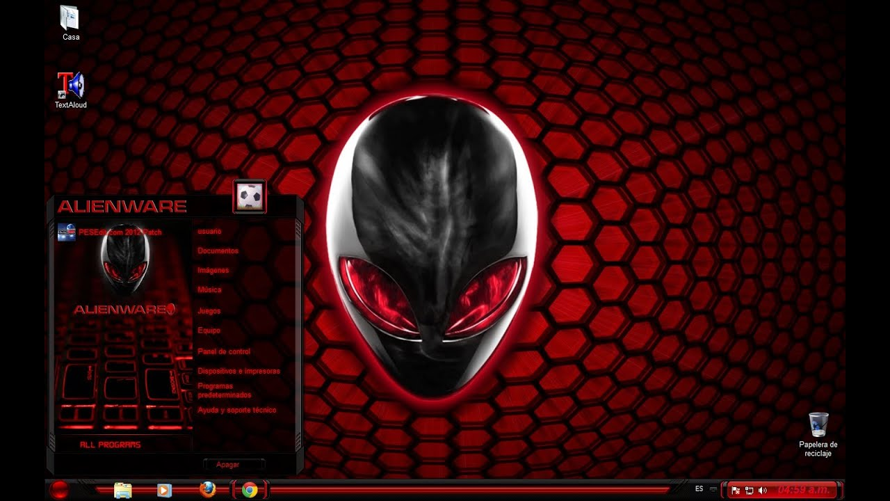 Alienware Logo Hd Wallpaper Tema Pack Completo Alienware Rojo Red Para Windows 7