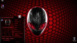 Tema + Pack Completo AlienWare Rojo (Red) Para Windows 7