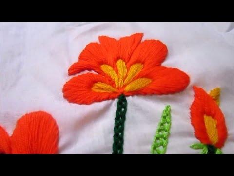 Satin Stitch Flower | Hand Embroidery Tutorial
